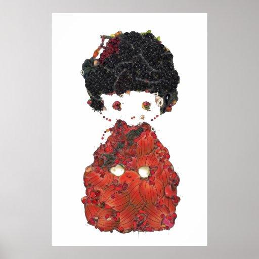 Kokeshi Doll Art Posters