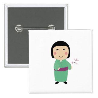 kokeshi doll button