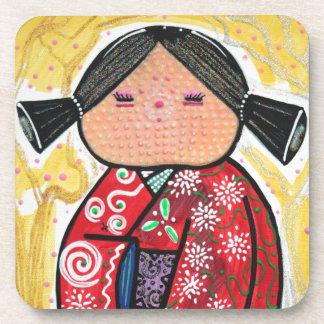 Kokeshi Doll Beverage Coaster