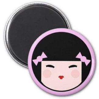 Kokeshi Doll Face Magnet magnet