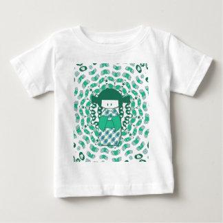 Kokeshi doll, green baby T-Shirt