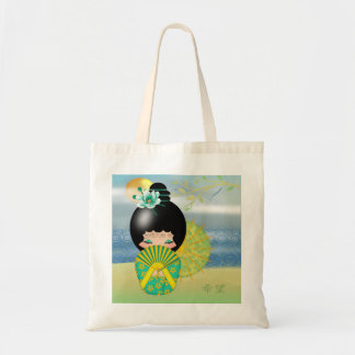 Kokeshi Doll Hope Budget Tote