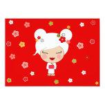 Kokeshi Doll Japanese Tea Party Invitation