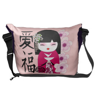 kokeshi doll,Japanese traditional dolls Courier Bag