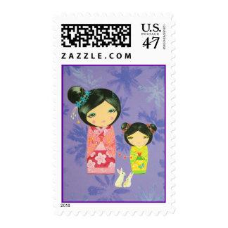 Kokeshi Doll - Love Binds Us Together Postage