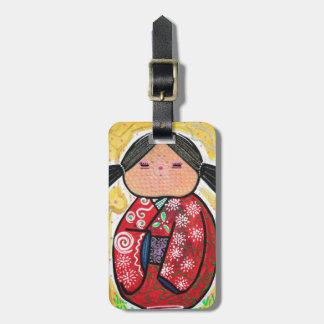 Kokeshi Doll Luggage Tag