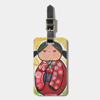 Kokeshi Doll Bag Tag
