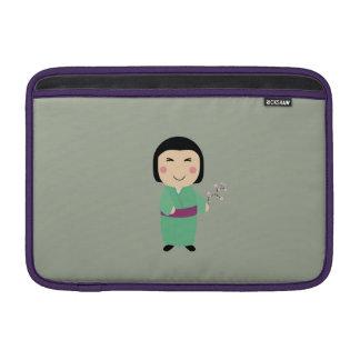 kokeshi doll MacBook air sleeve
