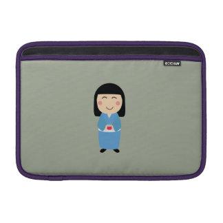 kokeshi doll MacBook sleeve