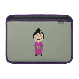 kokeshi doll MacBook sleeves