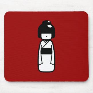 Kokeshi Doll Pictogram Mousepad