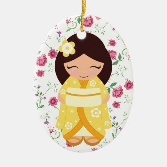 Kokeshi Doll - SRF Ceramic Ornament