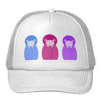 Kokeshi Doll Trio Trucker Hat