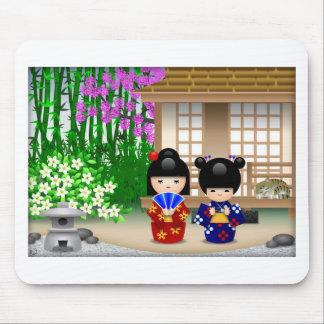 Kokeshi Dolls and Teahouse Mouse Pad
