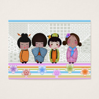 kokeshi dolls business card