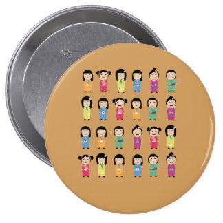 kokeshi dolls button