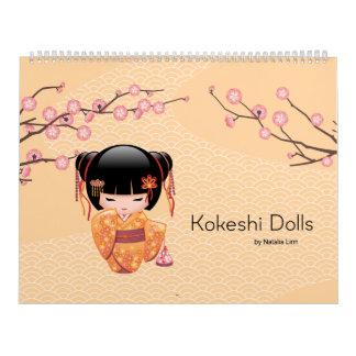 Kokeshi Dolls Calendar