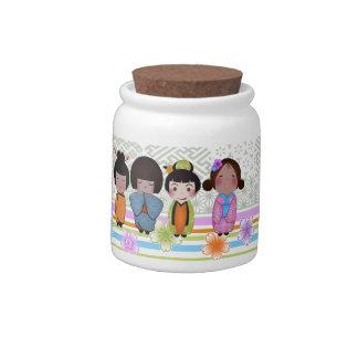 kokeshi dolls candy jar