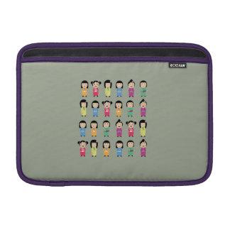 kokeshi dolls MacBook air sleeves