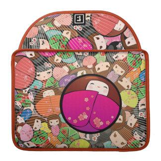 Kokeshi Dolls Rickshaw Flap Sleeve Sleeve For MacBooks