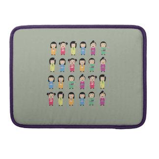 kokeshi dolls sleeve for MacBooks