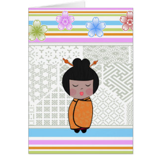 kokeshi dragonflies card
