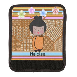 kokeshi dragonflies luggage handle wrap