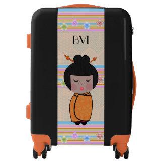 kokeshi dragonflies - suitecase luggage