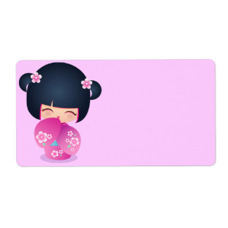 Kokeshi Fraise Address Label