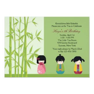 Kokeshi Friends Invitation