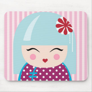 Kokeshi girl mousepad