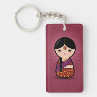 Kokeshi Hindu Girl Keychain