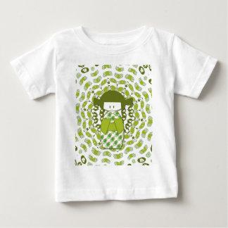 Kokeshi, Japanese dolls, apple green, Baby T-Shirt