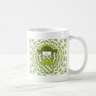 Kokeshi, Japanese dolls, apple green, Classic White Coffee Mug
