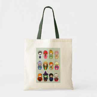 Kokeshi Months of the Year Tote