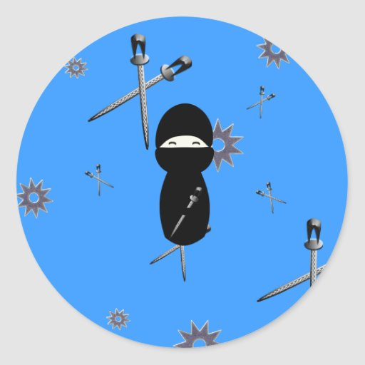 Kokeshi ninja sticker zazzle for Stickers kokeshi