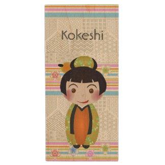 kokeshi noshi wood USB flash drive