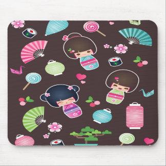 Kokeshi Pattern Mousepad