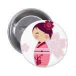 Kokeshi Pin Redondo 5 Cm