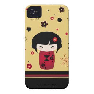 Kokeshi rojo iPhone 4 funda