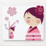 Kokeshi Sakura Mousepad