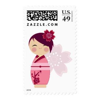 Kokeshi Sakura Postage