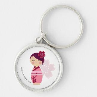 Kokeshi Sakura Premium Keychain