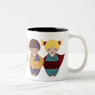 Kokeshi Sisters Mug