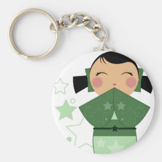Kokeshi Star Keychain
