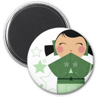 Kokeshi Star Magnet