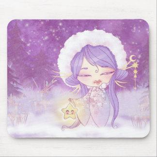 Kokeshi Star Mouse Pad