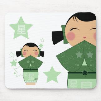 Kokeshi Star Mousepad