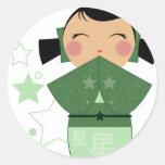 Kokeshi Star Stickers