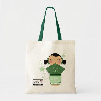 Kokeshi Star Tote Tote Bags
